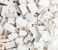 LEGO New WHITE Brick 1x2 Lot of 100 pieces **Brand New** 4539102