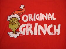 How The Grinch Stole Christmas Original Movie Cute Family Distressed T Shirt M/L
