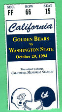 10/29/94 CAL VS. WASH STATE FOOTBALL TICKET STUB