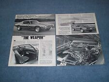 """1973 Chevy Camaro Vintage Street Machine Article """"The Weapon"""""""
