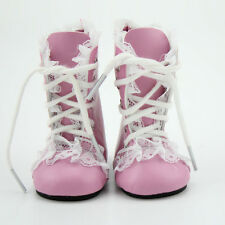 18 inch American Girl Doll Shoes Pink Princess Boots With Lace