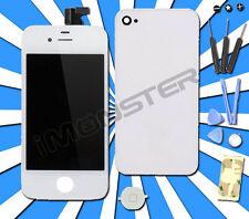 UMBAU SET für iPhone 4 4G WEISS WEIß TouchScreen FRONT GLAS LCD DISPLAY KOMPLETT