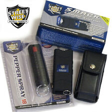 Streetwise Mini Keychain STUN GUN + PEPPER SPRAY Combo Set BLACK SMACK 6,000,000