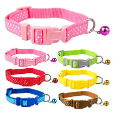 "New Cute Dog Puppy Collar Cat Kitten Collar Bell Attached for 8.5-12.5"" S Breeds"