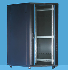 12U Server Rack cabinet 600 (W) x 800 (D) x 634 (H) Glass Front Door Flat pack