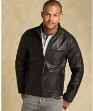 !!!! Tommy Hilfiger Butter soft lamb skin mens black leathet jacket !!!! $650.00