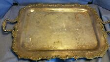 Vintage rectangular footed serving tray Marlboro plate old english reproduction