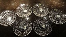 "*NEW* Waterford Crystal MILLENNIUM (1996-2005) 5 Toasts Luncheon Plate 8"" Set 6"