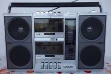 1984er LUGANO 120 Stereo Radio Double Tape Cassette Recorder  Ghetto Blaster