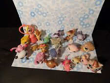 littlest pet shop lot of 21 LPS figures beave hamster  cats plus see