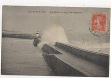 Quiberon Jetee Jour de Tempete France 1916 Postcard 369a ^