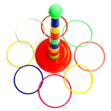 Kids Children Outdoor Plastic Ring Toss Quoits Garden Game Toys Play Fun Set