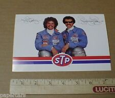 Richard & Kyle Petty 1980 STP Union 76 Goodyear vintage racing Postcard Handout