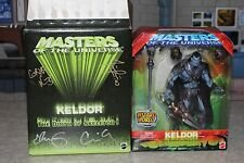 NECA KELDOR FIGURE MOTU 200X EXCLUSIVE SIGNED BY THE FOUR HORSEMEN