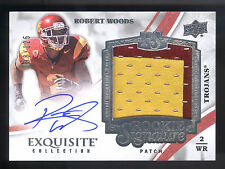 2013 Exquisite #139 Robert Woods 2 Color Patch Autograph RC #098/125 USC TROJANS