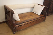 Chest sofa in solid walnut 1800-1899