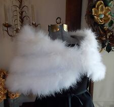 White Marabou Feather Stole Cape Shrug Wrap Bridal M-XL Lovely