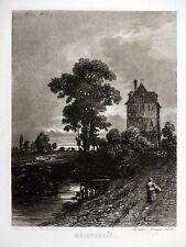 Louis Marvy - MÉLANCOLIE - Gravure au vernis mou ALLIANCE DES ARTS - c1840