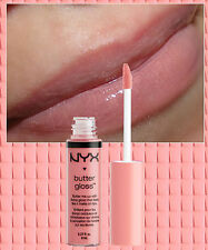 NYX BUTTER LIP GLOSS LIQUID LIPSTICK - CREME BRULEE - BEIGE NUDE PINK