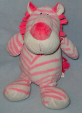 Kelly Toy Plush Pink & White Zebra Stuffed Animal Toy 13""
