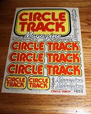 Autographics ~ 653 Decals ~ CIRCLE TRACK Magazine ~ RC Car 1:10 Scale