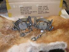 2 Duke # 1 3/4 (1.75) Coil Spring Trap Raccoon  Bobcat Badger  coyote