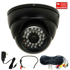 Security Camera SONY CCD IR Infrared Day Night Home Wide Angle w/ Audio Mic wf0