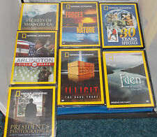 Lot Of 7 NATIONAL GEOGRAPHIC DVD's 6 Are Factory Sealed Arlington, Shangri-La ++