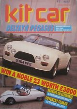 Kit Car magazine 10/1988 featuring Deltayn Pegasus