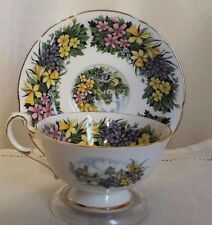 PARAGON TEA CUP AND SAUCER SEASONAL GREETINGS SPRING DAFFODILS