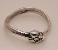 SNAKE Ouroboros Ring .925 Sterling SILVER Size 9 Ring Serpent Power Snake Mother