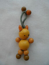 Vintage Art Deco Multicolor Bakelite Baby Crib Toy Teether - Rabbit / Cat ??