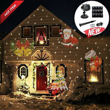 UK Christmas Laser Projector Light 12 Slides LED Spotlights Garden Yard Holiday