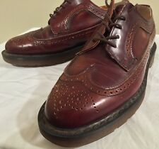 Dr DOC Martens Vintage Wingtip Brown Leather Oxford Shoes Men 7 Women 5 Creeper