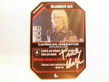 Autographed Battlestar Galactica ccg -  Number Six  (Tricia Helfer)