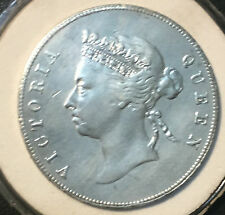 1893 50 Cent Hong Kong Queen Victoria Silver Coin
