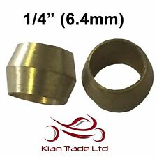 "1/4"" (6.4mm) - 10PCS BRASS COMPRESSION OLIVES PLUMBING FITTINGS ADAPTER"