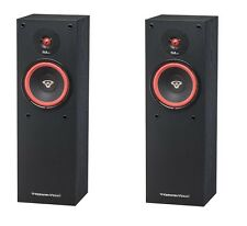 "PAIR OF CERWIN VEGA SL8 Hi Fi HOME AUDIO 8"" 2-WAY TOWER FLOORSTANDING SPEAKERS"