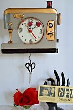 Michelle Allen Designs Sewing Machine Clock Silver and Gold ship in 24 hrs