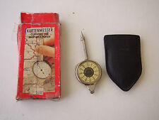 Original W. Germany map measurer. Kartenmesser original box and case NICE,