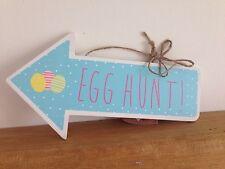 IN LEGNO Pasqua Egg Caccia freccia segnale