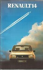 Catalogue brochure Katalog Prospekt RENAULT 14 Année 1982 24 PAGES