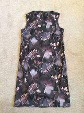 BRAND NEW WITH TAGS LADIES BLACK PRINT 'NEXT TAILORING' SLEEVELESS POLYESTER DRE