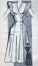 UNUSED VTG Anne Adams Mail Order Sewing Pattern - Side-Buttoned Dress - Bust 32