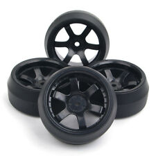 4X PP Tires Wheels Rims For HPI HSP Racing RC 1:10 RC Drift Car On-Road 12mm Hex