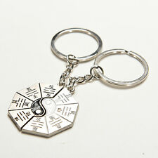 New Chinese Style Gift Taoist Religion Tai Chi Keychain Couple Love Keyring Fine