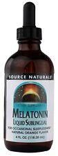 Source Naturals Melatonin Liquid Orange Sublingual - 4 oz