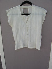 Vintage 1920's to 1930's Off-White Blouse