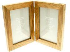 Rovere naturale legno 2 fotografia cornice doppia - Hold 2 foto 4 x 6 pollici