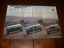 BUICK GRAND NATIONAL T TYPE ***ORIGINAL 2 PAGE AD***